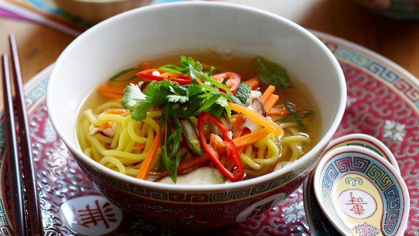 Longevity and wealth noodle soup