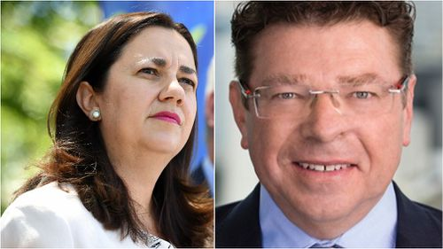Ms Palaszczuk and Mr Drabsch became an item in 2015. (AAP/Linkedin)