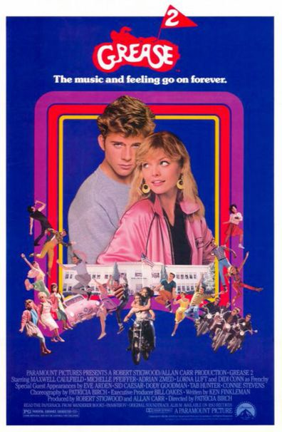 Michelle Pfeiffer and Maxwell Caulfield in Grease 2
