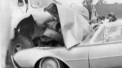 Mr Lampitt's Thunderbird after the 1963 crash. (Arthur Lampitt)
