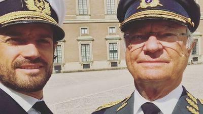Crown Prince Carl Philip and King Carl Gustaf, April 2019