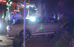 Two men under police guard in hospital after deadly Elwood crash
