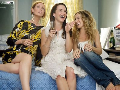 Miranda, Charlotte and Carrie in Sex And The City