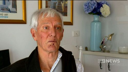 "The former Australian Test leg spinner Bob ""dutchy"" Holland spoke to 9NEWS after the attack. Picture: 9NEWS"