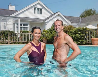 "<p>Pippa Middleton Matthews with her fitness trainer wearing a two-toned one piece swimsuit by <a href=""http://www.sweatybetty.com/au/all-clothing/swimwear/swimsuits/red/pink/purple-free-dive-swimsuit/"" target=""_blank"" title=""Sweaty Betty"" draggable=""false"">Sweaty Betty</a>, currently <a href=""http://www.sweatybetty.com/au/all-clothing/swimwear/swimsuits/red/pink/purple-free-dive-swimsuit/"" target=""_blank"" title=""on sale"" draggable=""false"">on sale</a> for $100, August, 2018</p> <p>&nbsp;</p>"