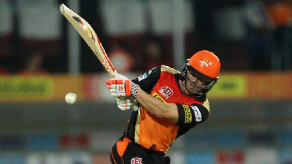 Warner shines with bat at Hyderabad