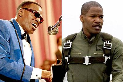 <B>Oscar winner:</B> <I>Ray</I> (2004). After a string of awful comedies, Jamie Foxx managed to break out by giving a performance that left audiences believing he wasn't just acting as, but <i>was</i>, Ray Charles.<br/><br/><B>Stinker:</B> <I>Stealth</I> (2005). Three pilots attempt to take down an artificially intelligent stealth fighter gone rogue. Foxx gives one of his worst performances as one of those pilots in this not bad-ass but just <I>bad</I> film.