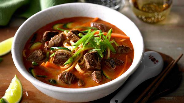 Lamb and vegetable laksa recipe