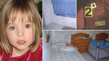 Madeleine McCann and police photographs inside apartment 5A of the Ocean Club Resort.