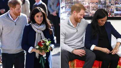 Prince Harry and Meghan Markle visit girls' boarding house in Morocco, February 2019