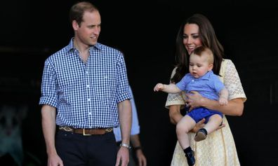 Prince George joined his parents in New Zealand and Australia in 2014.