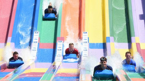 Slide into to Wet 'n' Wild Sydney. (AAP)