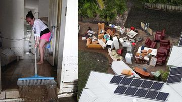 Residents begin clean-up
