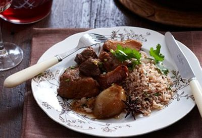 Pork and quince casserole