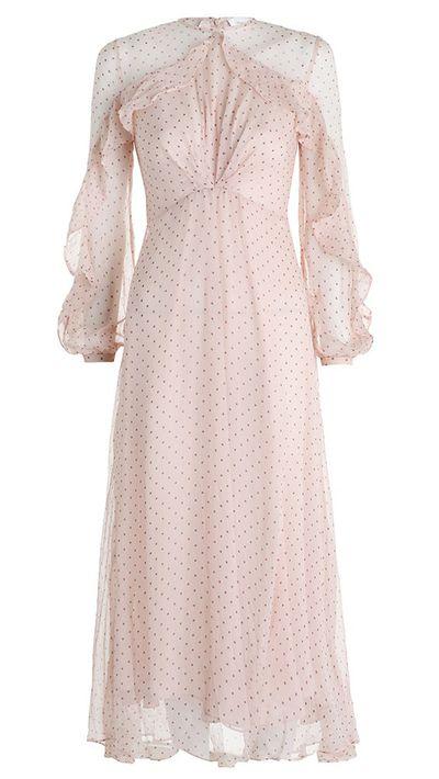 "<p><a href=""http://www.zimmermannwear.com/readytowear/clothing/dresses/rhythm-dot-tuck-dress-blush.html"" target=""_blank"">Dress, $795, Zimmermann</a></p>"