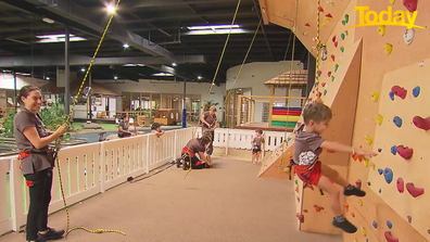 Paisley Park Early Learning Centre in Sydney has a rock climbing wall among other attractions.