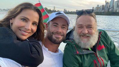 Russell Crowe, Chris Hemsworth, Elsa Pataky, Sydney harbour cruise