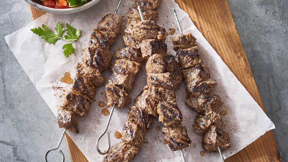 Lemon and garlic kebab