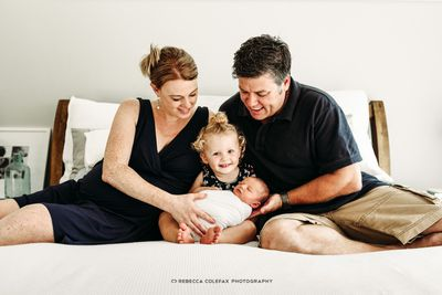 """Rebecca says parents should think about getting a professional newborn portrait. """"Parents get busy, and before you know it weeks turn into months and months into years!"""""""