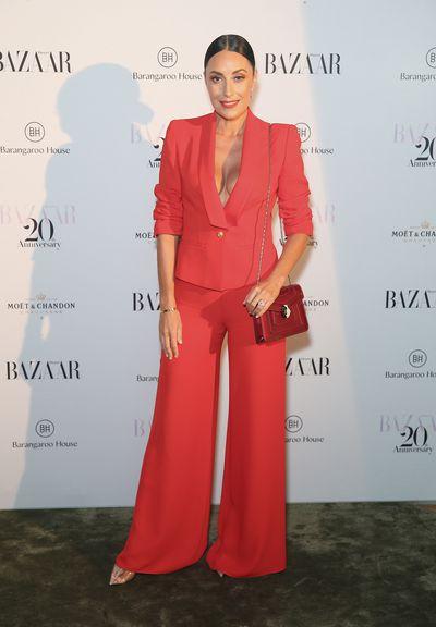 Terri Bivianoat the Harper's Bazaar 20th anniversary party