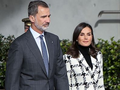 Queen Letizia and King Felipe depart for an official visit to Cuba at the Barajas Airport