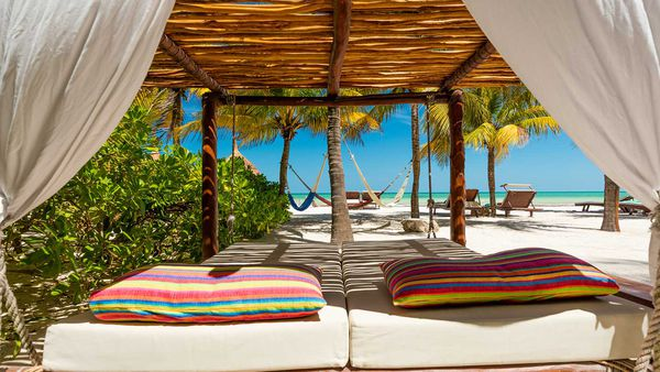 Beachfront cabana on Isla Holbox, Mexico