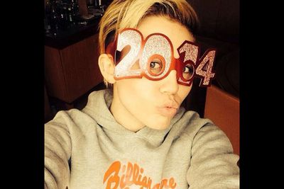 """@mileycyrus: """"Yo 2014! If you ain't scuuuurd of me just ask 2013 what's up."""""""