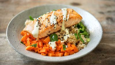"<a href=""http://kitchen.nine.com.au/2017/03/31/12/25/salmon-sushi-bowls"" target=""_top"">Salmon sushi bowls</a><br /> <br /> <a href=""http://kitchen.nine.com.au/2016/06/06/22/56/quick-and-easy-meals-with-rice"" target=""_top"">More easy rice recipes</a>"