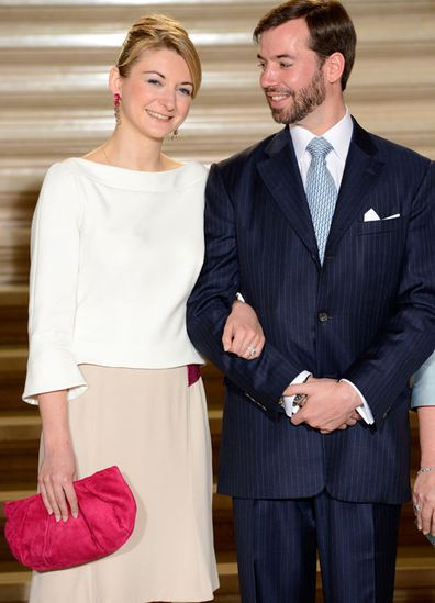 Countess Stephanie de Lannoy and Prince Guillaume of Luxembourg announce their engagement on April 27, 2012 in Luxemburg City in Luxemburg.