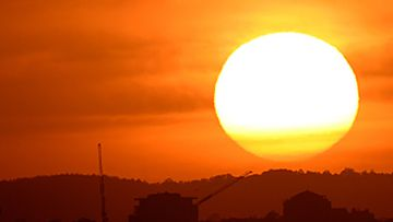 Victorian sunrise during heatwave (AAP)