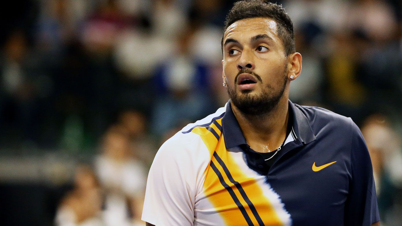 Nick Kyrgios clashes with umpire in loss at Shanghai Masters
