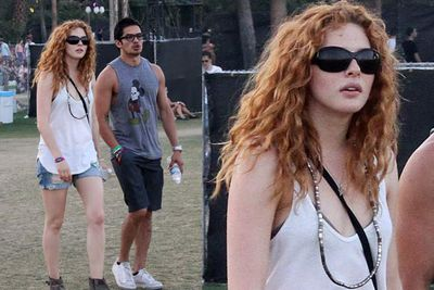 Rachelle knows it's all about the hair, and dresses down to keep focus on the ... mane event.<br/><br/><i>Rachelle Lefevre at Coachella Festival 2012<br/>Image: Snappermedia</i>