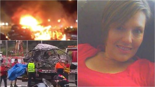 Nicole Tucker was killed when an allegedly stolen ute ploughed into her car last night. (9NEWS)