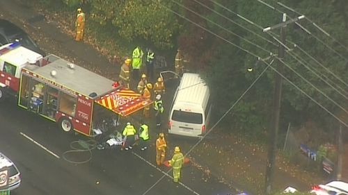 Authorities have warned of delays while they investigate the crash.