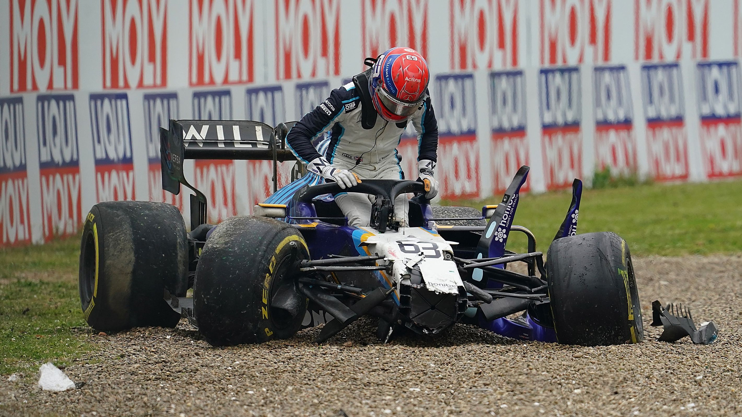 Williams-Mercedes driver George Russell has 'lots to learn' after Italian Grand Prix crash