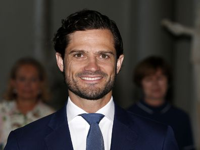 """Prince Carl Phillip of Sweden attends a scholarship award in the drawing competition """"The Thinking Hand"""" during Sweden's national day at the Royal Palace on June 6, 2019 in Stockholm, Sweden headshot."""