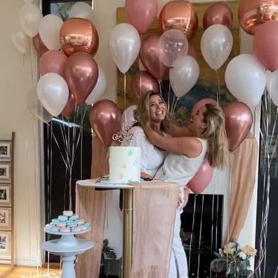 Fiona Falkiner and her fiancée, Hayley Willis are expecting a baby boy.