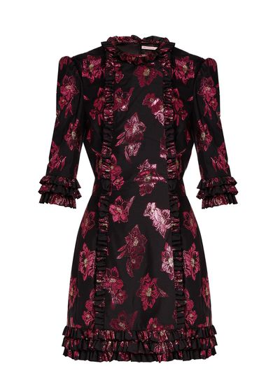 "Vampire's Wife Cate dress, $1565 from <a href=""https://www.matchesfashion.com/au/products/The-Vampire%27s-Wife-Cate-floral-fil-coup%C3%A9-mini-dress-1155281"" target=""_blank"">Matchesfashion.com</a>"