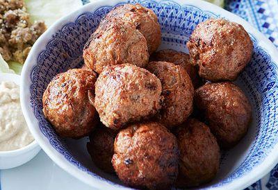 "Recipe: <a href=""http://kitchen.nine.com.au/2016/05/05/13/47/middle-eastern-lamb-meatballs"" target=""_top"">Middle Eastern lamb meatballs</a>"