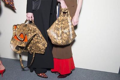 """While bags seem to be shrinking, Givenchy made a strong case, or tote at least, for something roomy enough to fit more than your keys and some lipstick.<span class=""""Apple-tab-span"""" style=""""white-space: pre;""""></span>"""