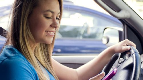Texting and driving is a dangerous habit.