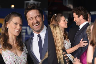 <i>PS I Love You</i> stars Hilary Swank and Gerard Butler reunited. PS We love them.
