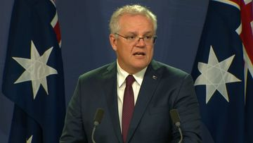 Scott Morrison addresses media in Sydney