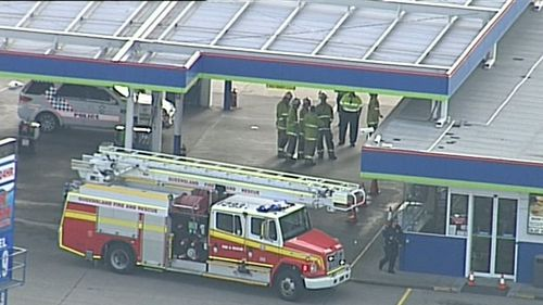 Three people have been treated at the scene for minor injuries. Picture: 9NEWS