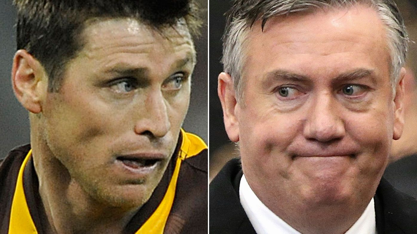 Shane Crawford tells Eddie McGuire to 'button his lip' after call to change Sherrin