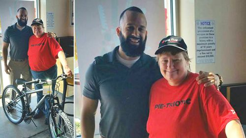 Restaurant worker who walked 13km to work every day treated to new bike