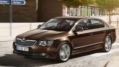 The Skoda Superb Ambition 118TSI sedan was rated the best value large car under $45,000, with the Ford Falcon XR6 coming second, and the Holden Commodore SV6 sedan coming third. (Supplied)