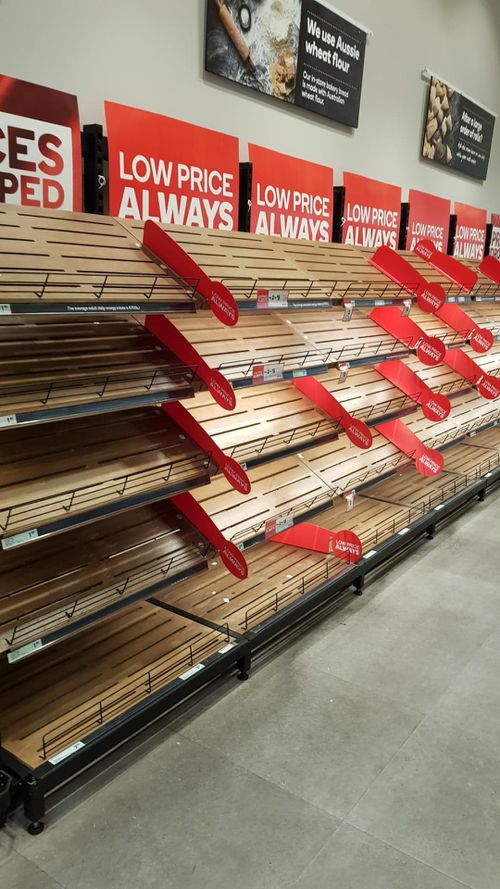 """The shelves in Coles are """"absolutely bare""""."""