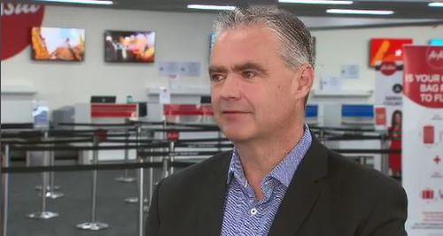 Giám đốc điều hành sân bay Avalon Justin Giddings. (9News)