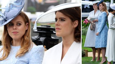 Princess Beatrice and Princess Eugenie at Royal Ascot, June 2018